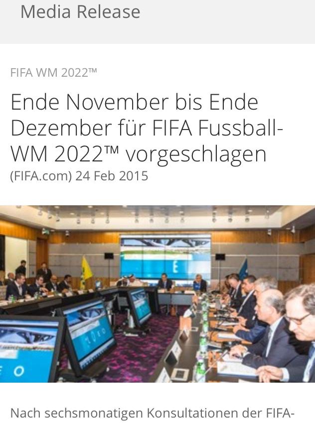 Die Advents-WM 2022 in Katar: Eine Wutrede!